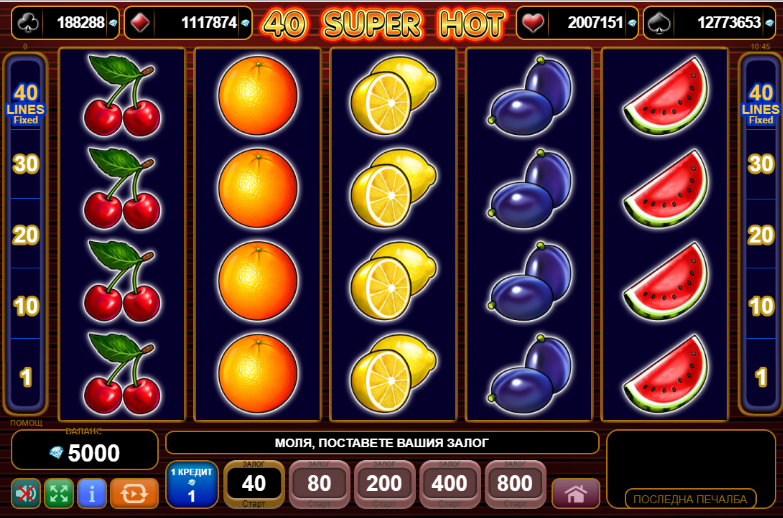 Super hot slot 40